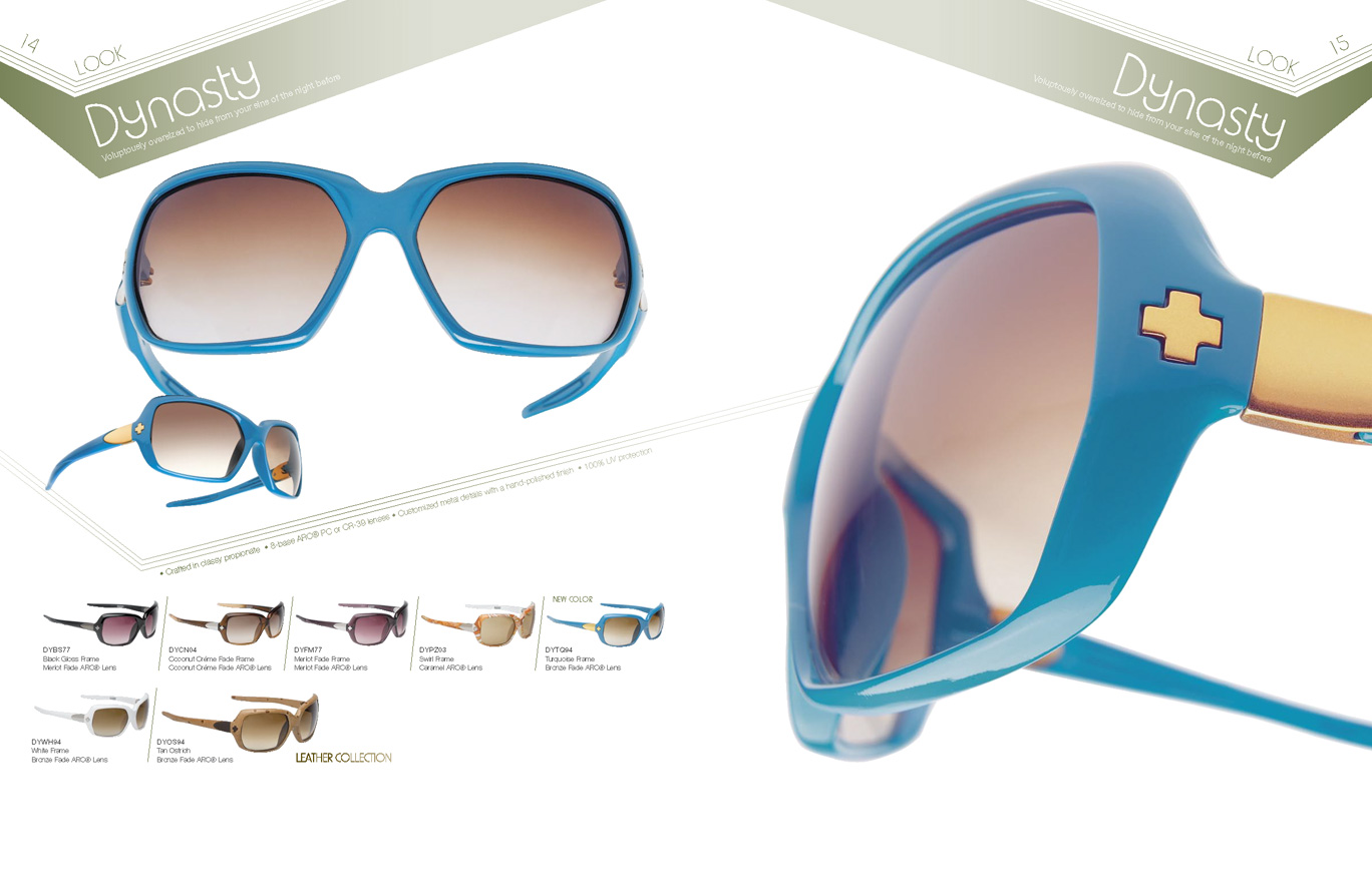 d14d42885ad7a Spy Optic Eyewear Spring 2006. Assisted the Art Director with the layout of  the catalog. Clipped